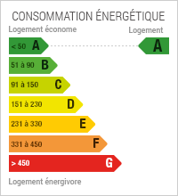 La consommation énergétique est de 45