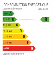 La consommation énergétique est de 55
