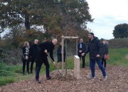 Liffré : premier arbre planté sur le futur lotissement de Penloup