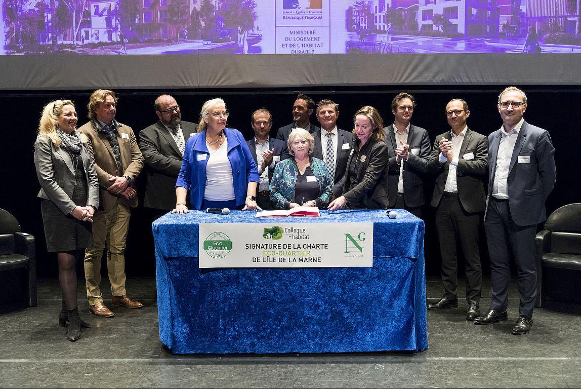 Le Groupe Giboire signe la charte EcoQuartier pour l'Ile de la Marne