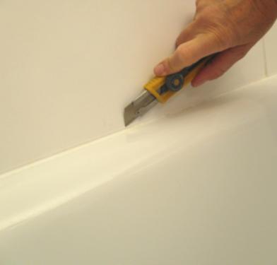 Comment refaire les joints en silicone de la baignoire