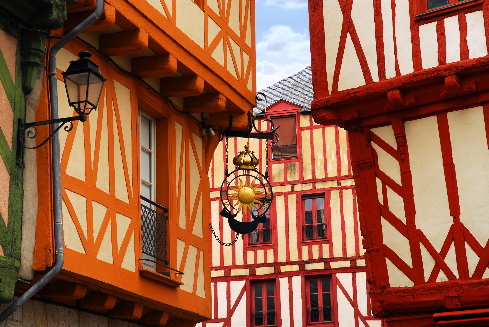 Centre-ville historique - façades de maisons
