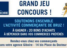 Le Groupe Giboire organise un jeu concours en soutien aux commerçants Bruzois et à l'activité économique du centre-ville.