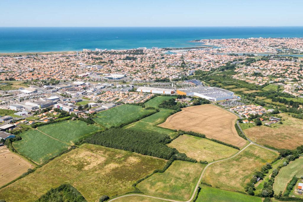 Photo aérienne de Saint Gilles Croix de Vie