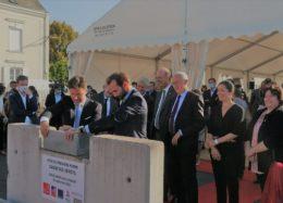 Angers : pose de première pierre pour les futurs bureaux de la Caisse des Dépôts